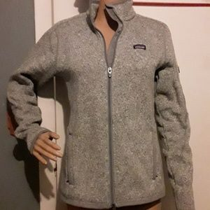 Patagonia gray full zip better sweater jacket